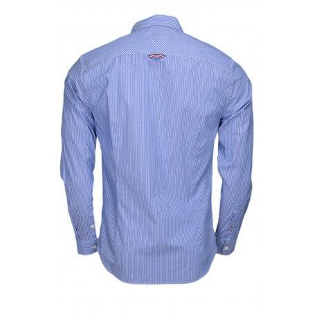 Chemise Tommy Hilfiger Dénim rayée bleu et blanche pour homme