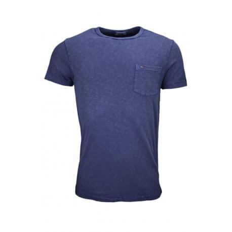 T-shirt col rond Tommy Hilfiger Dénim bleu marine pour homme