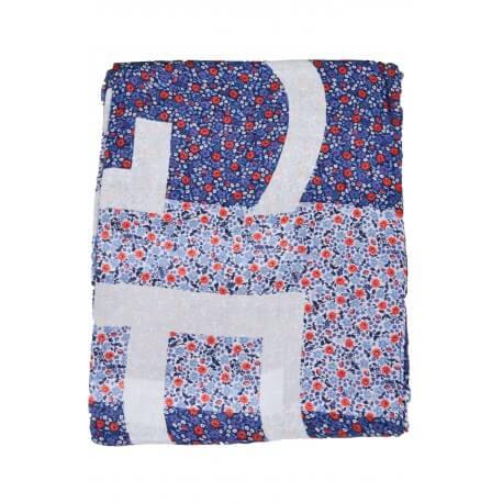 Foulard Tommy Hilfiger Floral bleu et rouge pour femme