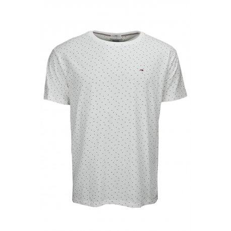 T-shirt Tommy Hilfiger Dénim Print fleur blanc pour homme