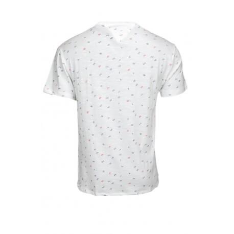 T-shirt col rond Tommy Hilfiger Dénim Lettres blanc pour homme