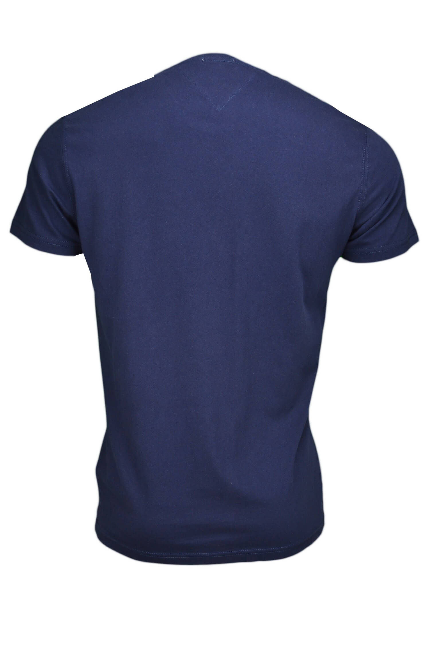 t shirt col rond tommy hilfiger inscription bleu marine pour homme. Black Bedroom Furniture Sets. Home Design Ideas