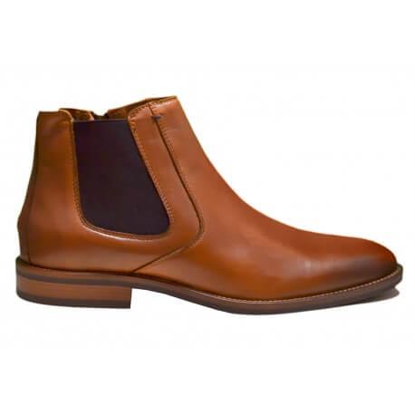 Bottines Tommy Hilfiger Daytona en cuir marron cognac pour homme