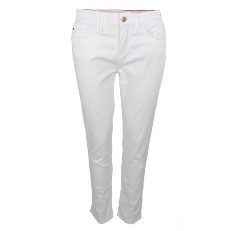 pantalon chino 7 8 tommy hilfiger silvana blanc pour femme toujou. Black Bedroom Furniture Sets. Home Design Ideas
