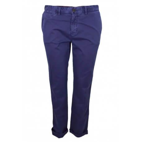 Pantalon chino Tommy Hilfiger Janet bleu marine pour femme