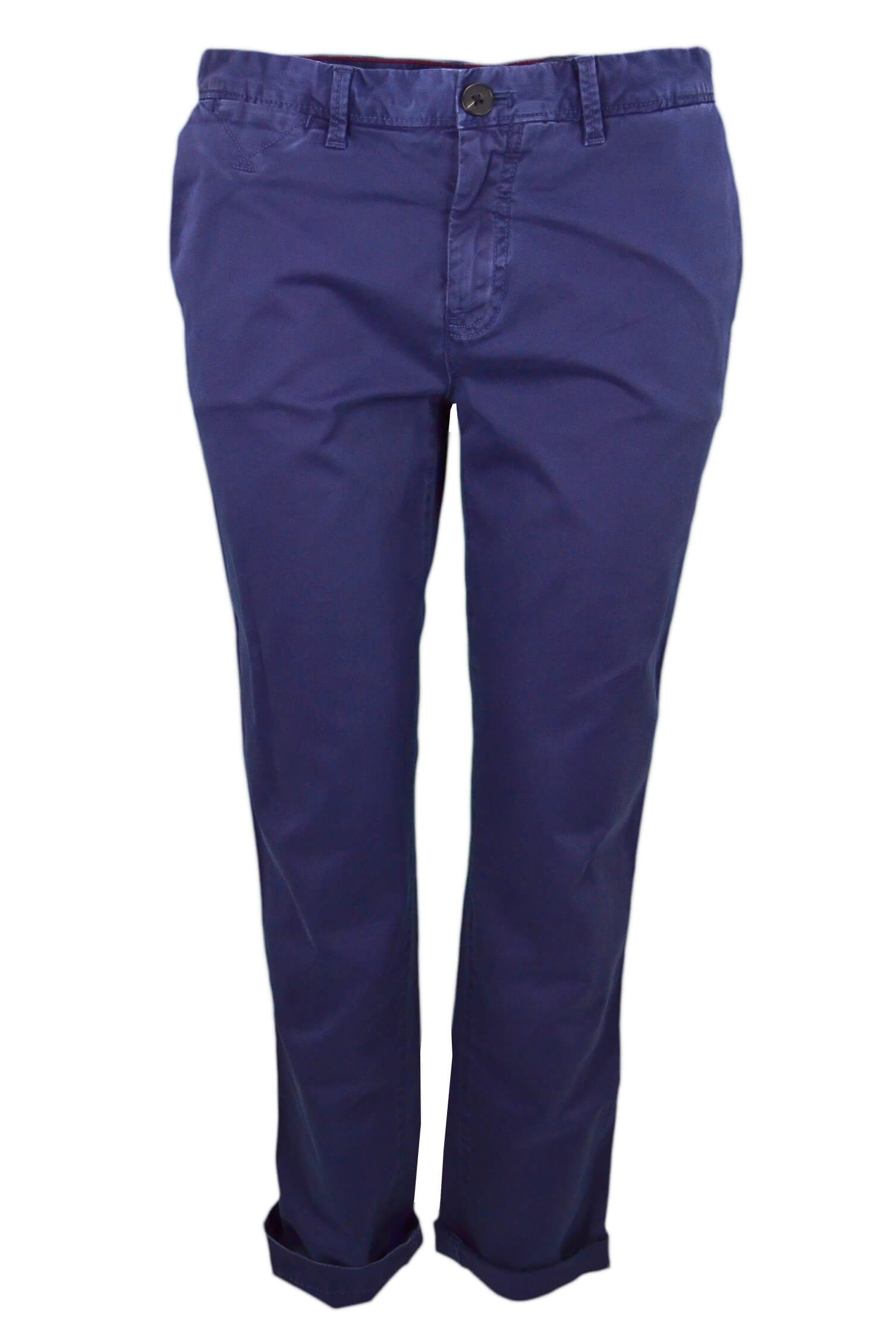 715b08915 Pantalon chino Tommy Hilfiger Janet bleu marine pour femme - Toujou...