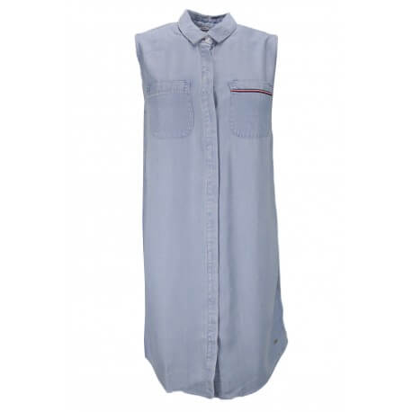 Robe Tommy Hilfiger Tammy en chambray bleu pour femme