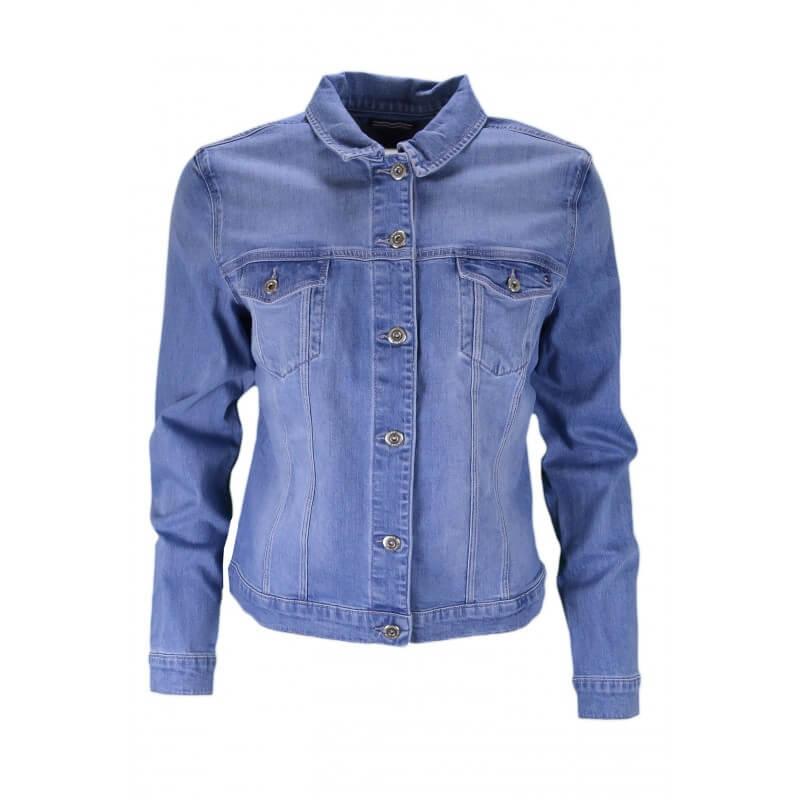 fdc4c39778b5 Veste en jean Tommy Hilfiger Verona bleu clair pour femme - Toujour...