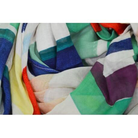 Foulard Tommy Hilfiger Logo multicolore pour femme