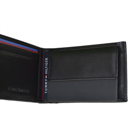 Mini porte-feuille Tommy Hilfiger Wallet noir pour homme