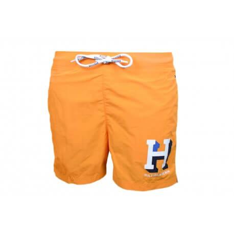 Short de bain Tommy Hilfiger Badge H orange pour homme