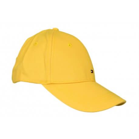 Casquette Tommy Hilfiger basique jaune pour femme