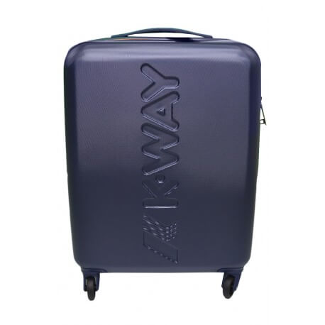 Valise à roulettes K-Way Cabin bleu marine