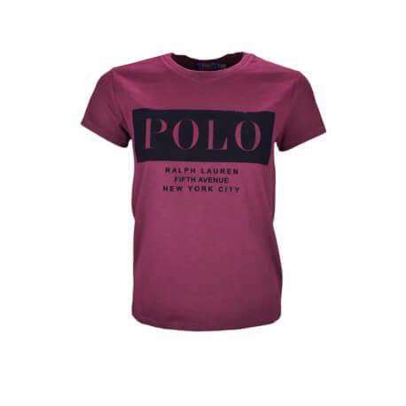T-shirt Ralph Lauren POLO rouge bordeaux pour femme