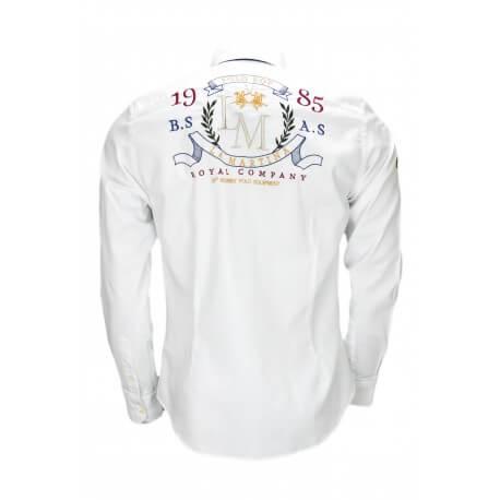 Chemise La Martina Royal Company blanche pour homme