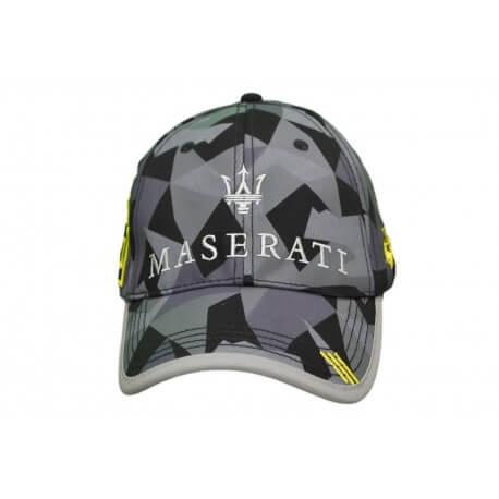 Casquette camouflage La Martina Maserati noire et grise pour homme