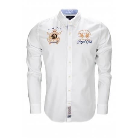 Chemise La Martina Royal Polo blanche pour homme