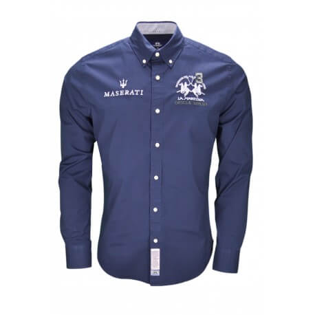 Chemise La Martina Maserati bleu marine pour homme