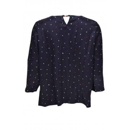 Blouse drapé Tommy Hilfiger Jacey bleu marine motif étoile pour femme