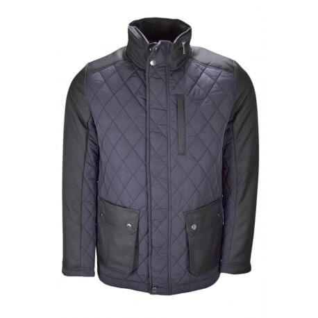 veste semi matelass e gant bleu marine pour homme toujours au me. Black Bedroom Furniture Sets. Home Design Ideas