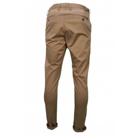 Chino Gant marron sable pour homme