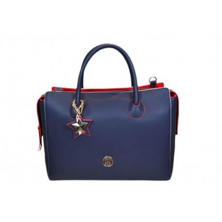 Sac à main Tommy Hilfiger Charming bleu marine et rouge pour femme