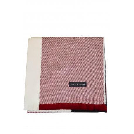 Couverture épaule Tommy Hilfiger rouge noire et blanche pour femme