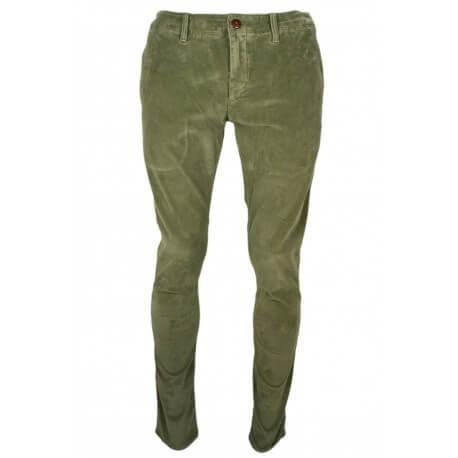 Pantalon côtelé Tommy Hilfiger Dénim vert kaki pour homme