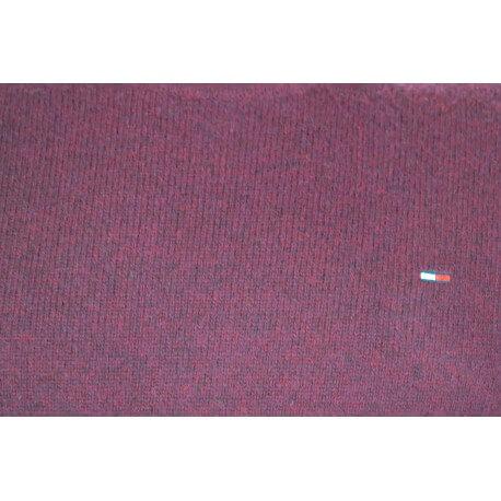 Pull col rond Tommy Hilfiger Dénim rouge bordeaux en laine pour homme