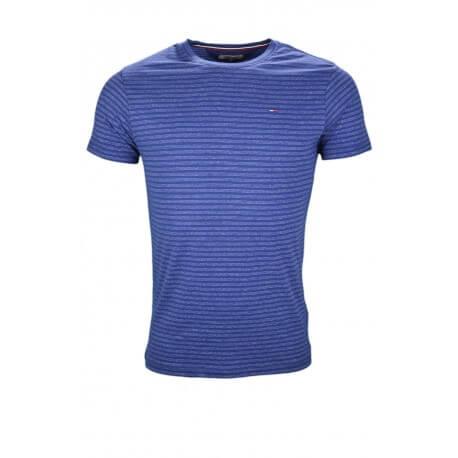 T-shirt col rond Tommy Hilfiger Dénim bleu pour homme