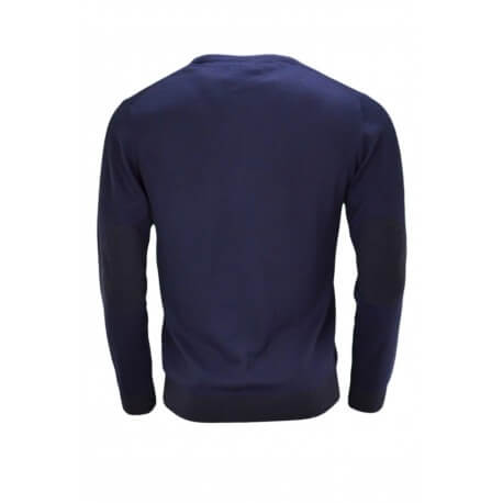 Pull col rond Gant bleu marine pour homme