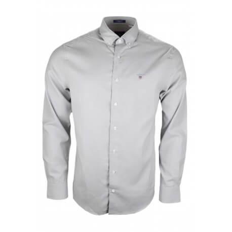 Chemise Gant Tech Prep grise pour homme