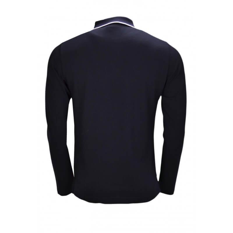 Toujours Longues Pour Homme Au Manches Noir Polo Gant Piqué Meill AL34R5jq