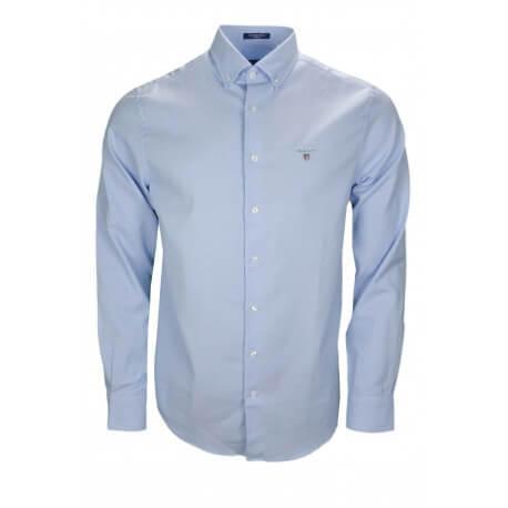 Chemise Gant Tech Prep bleu pour homme