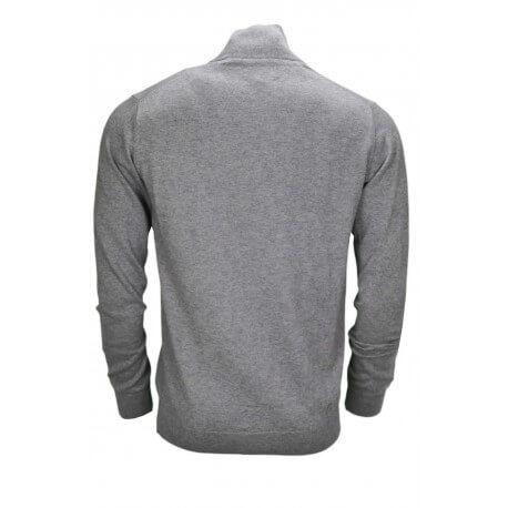 Pull col montant Gant gris en laine pour homme