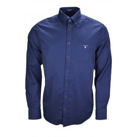 Chemise hivernale Gant bleu marine pour homme