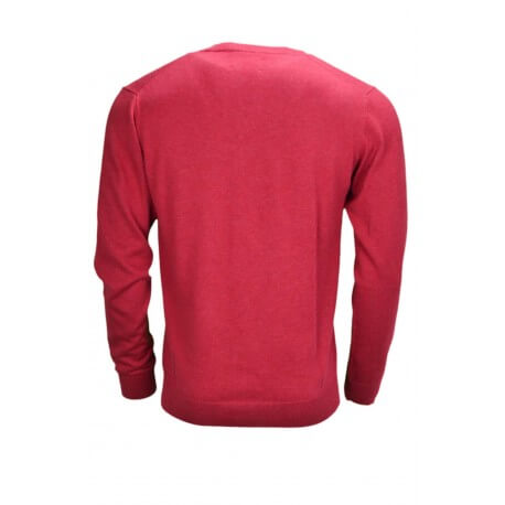 Pull col V Gant rouge pour homme