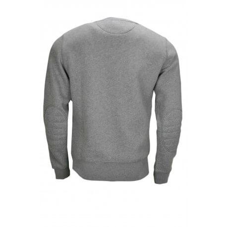 Sweat col rond Gant gris pour homme