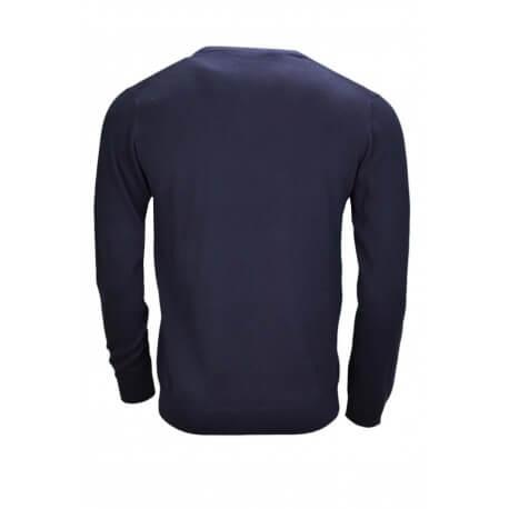 Pull col V Gant bleu marine pour homme