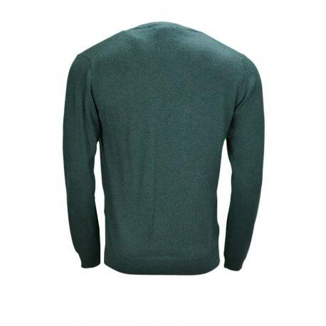Pull col V Gant vert pour homme