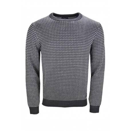 Pull Gant gris à motifs pour homme