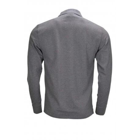 Polo manches longues Gant gris pour homme