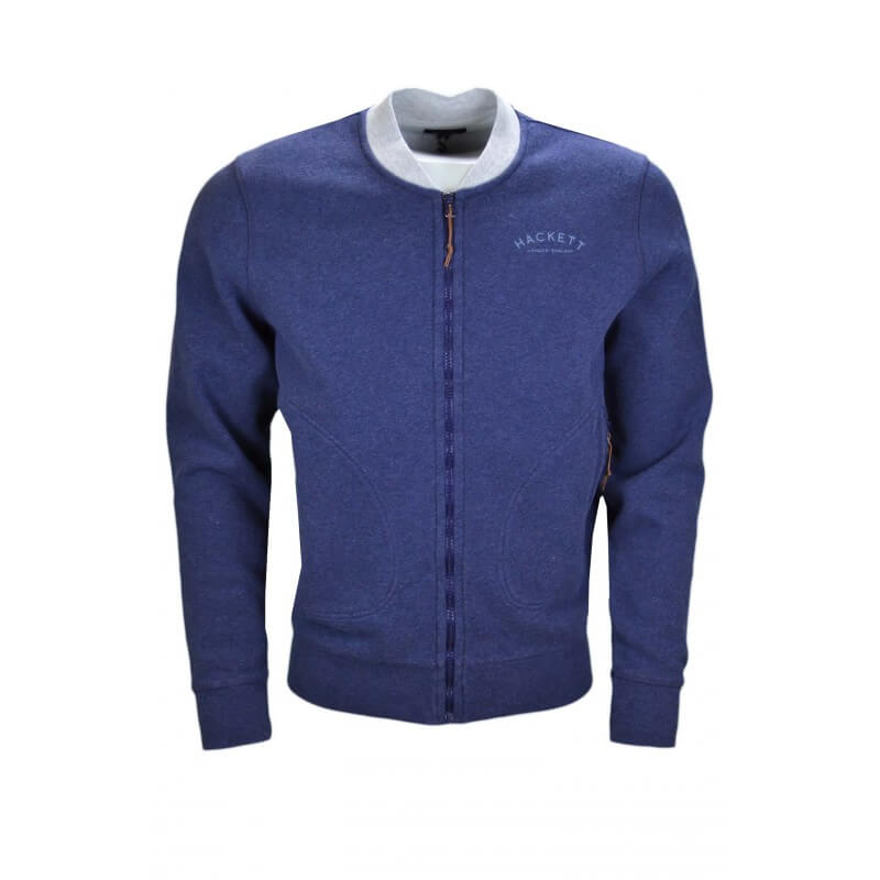 2ba0f4cdf5560 Veste sweat zippée Hackett bleu marine pour homme - Toujours au mei...