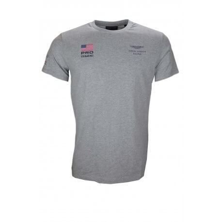 T-shirt Hackett Aston Martin gris pour homme