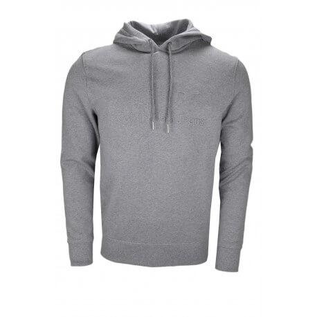 Sweat à capuche Calvin Klein gris pour homme
