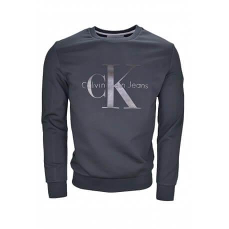 Sweat Calvin Klein Logo noir pour homme