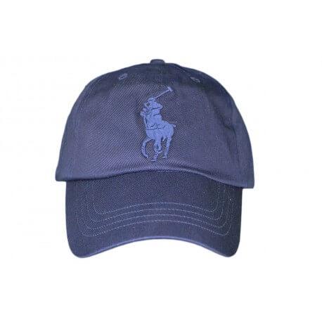 Casquette Ralph Lauren Big Poney bleu marine pour homme