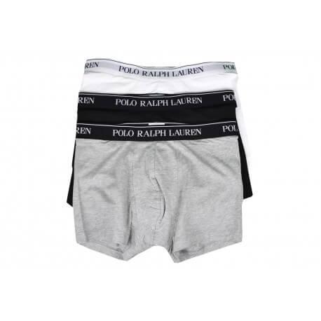 Lot de 3 boxers Ralph Lauren noir gris et blanc pour homme