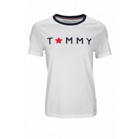 T-shirt col rond Tommy Hilfiger Star Graphic blanc pour femme