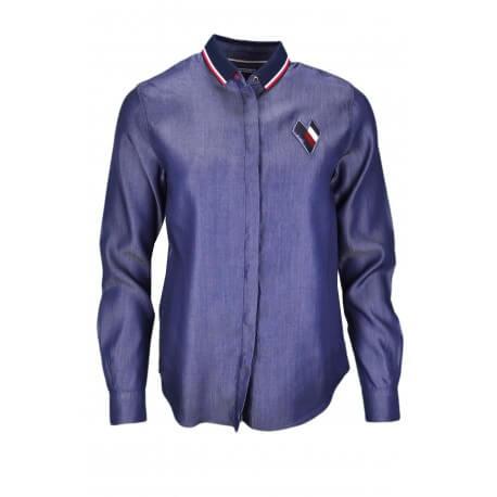 Chemise Tommy Hilfiger Céline bleu jean pour femme